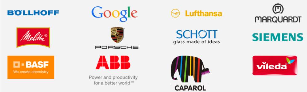 logos von geschäftspartnern von posprint bedruckungen